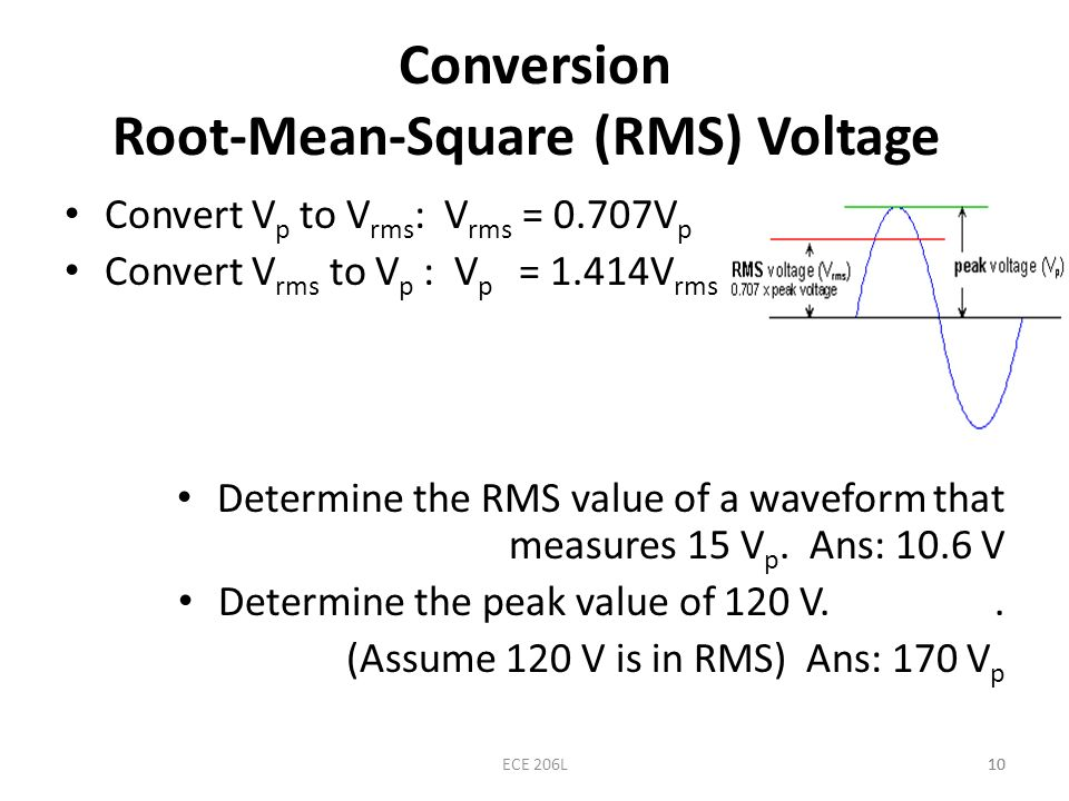 Conversion Root-Mean-Square (RMS) Voltage