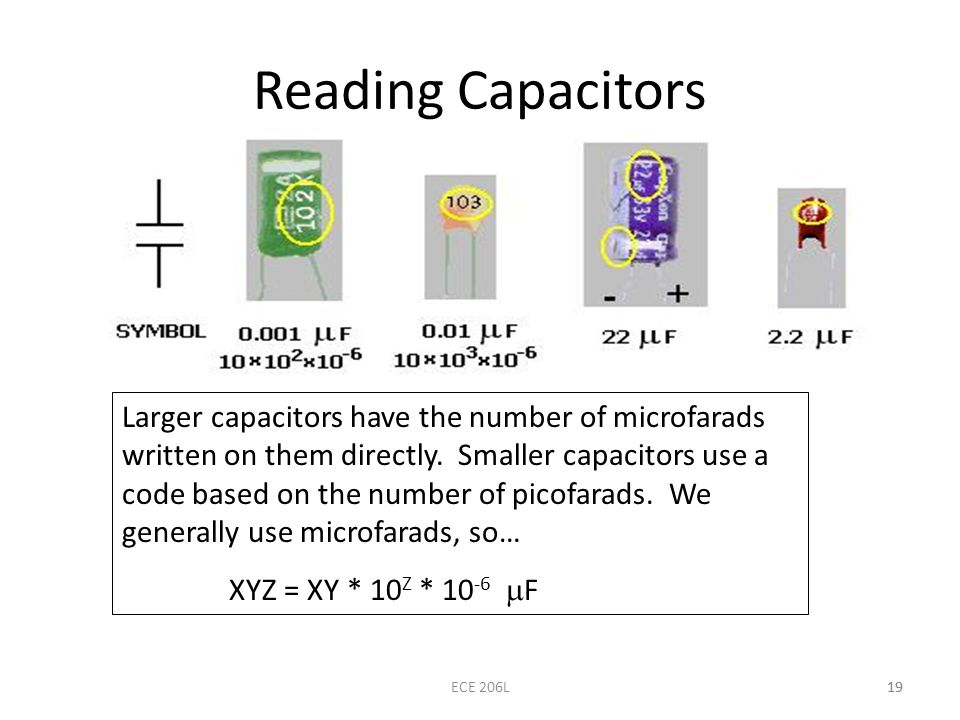 Reading Capacitors