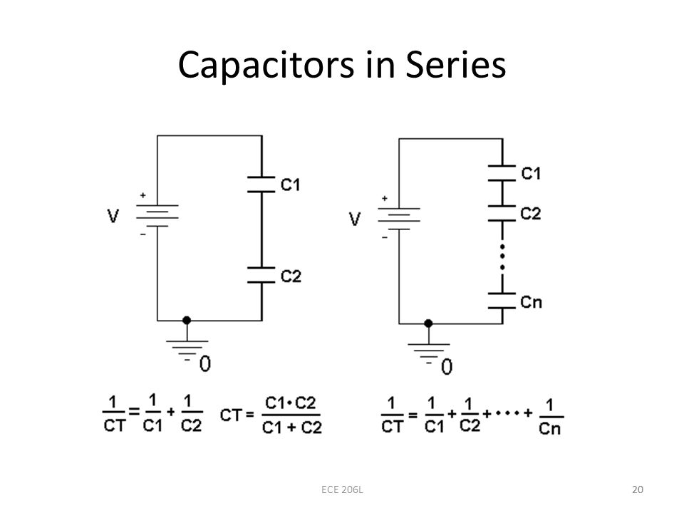 Capacitors in Series ECE 206L 20