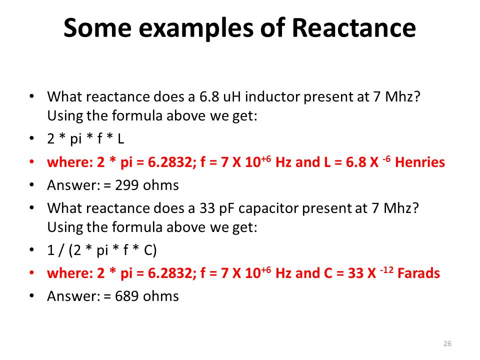 Some examples of Reactance