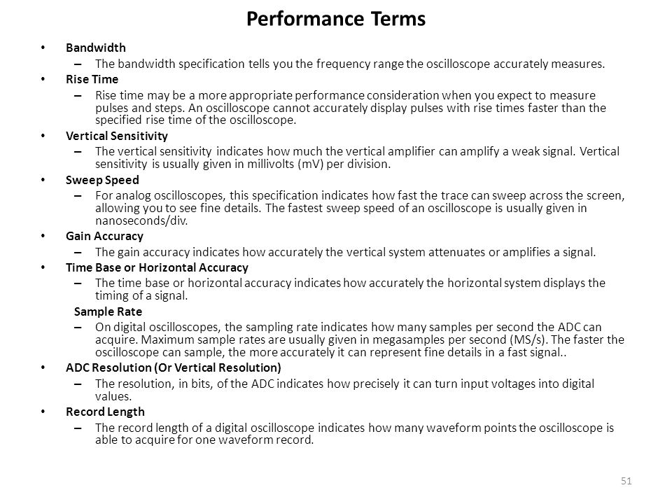 Performance Terms Bandwidth