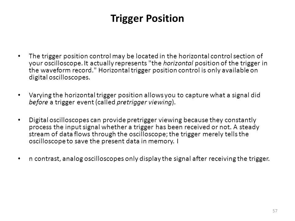Trigger Position