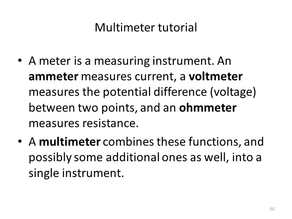 Multimeter tutorial