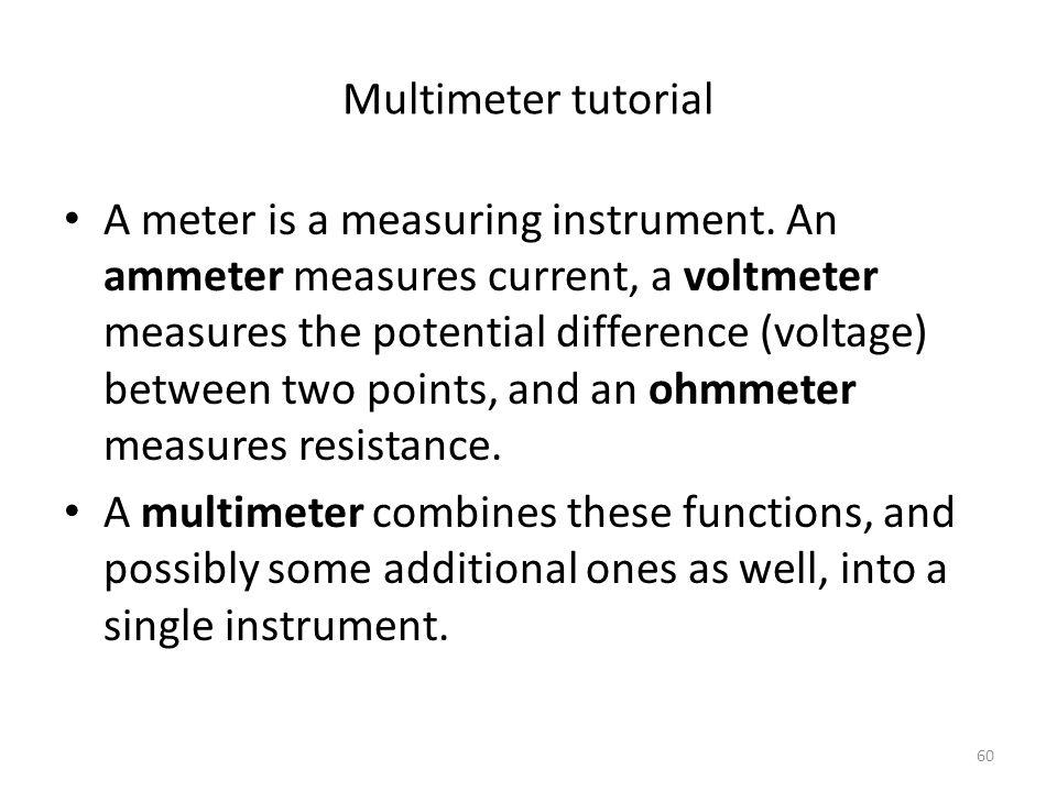 Multimeter tutorial