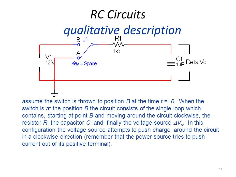 RC Circuits qualitative description