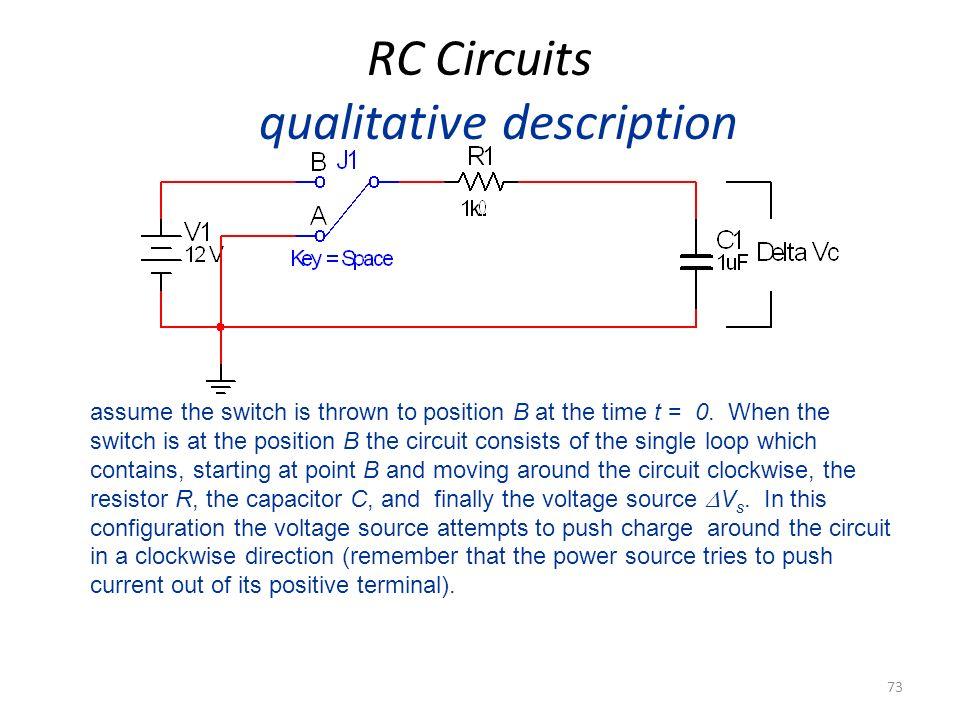 RC Circuits qualitative description