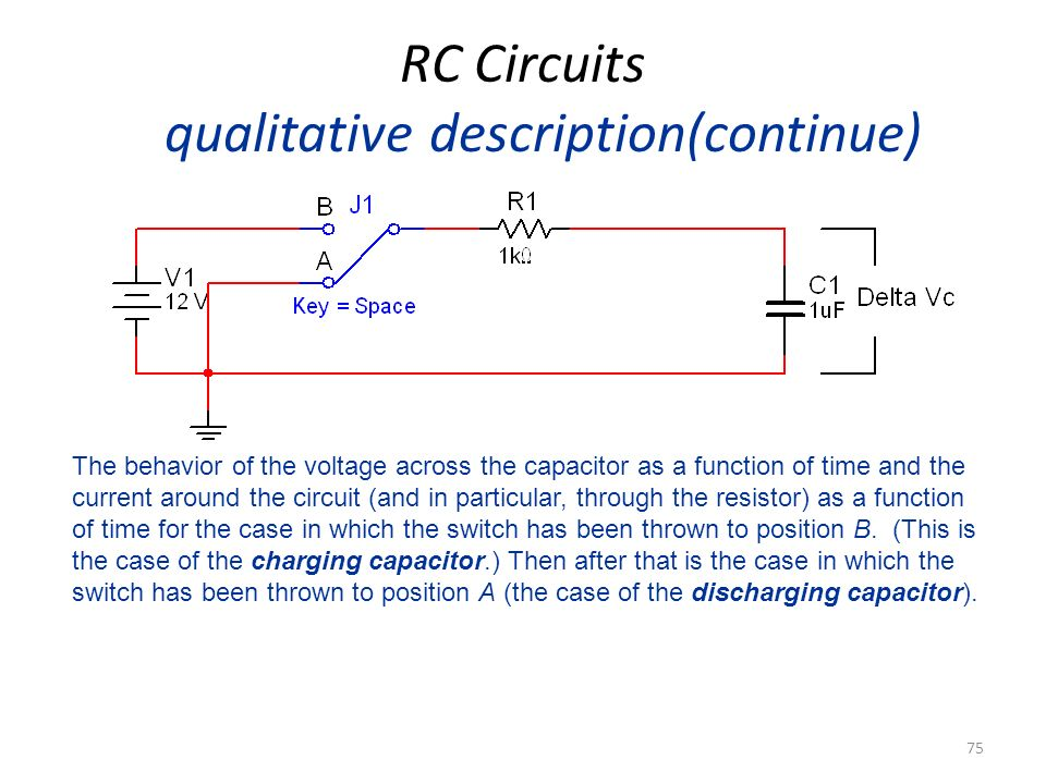 RC Circuits qualitative description(continue)