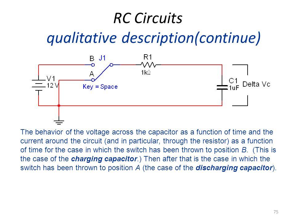 RC Circuits qualitative description(continue)