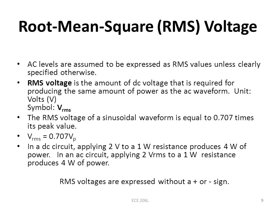 Root-Mean-Square (RMS) Voltage