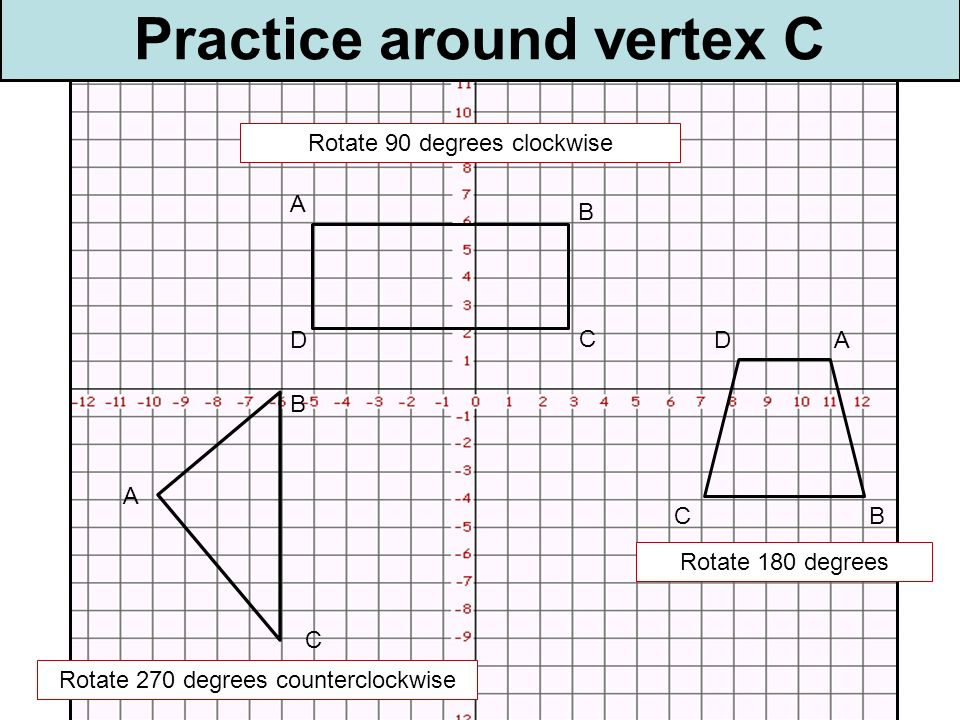 Practice around vertex C
