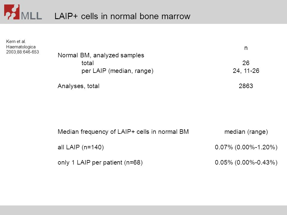 LAIP+ cells in normal bone marrow