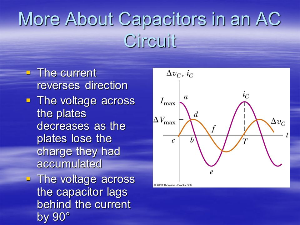 More About Capacitors in an AC Circuit