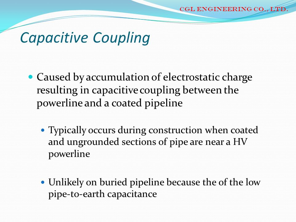 CGL ENGINEERING CO., LTD.Capacitive Coupling.