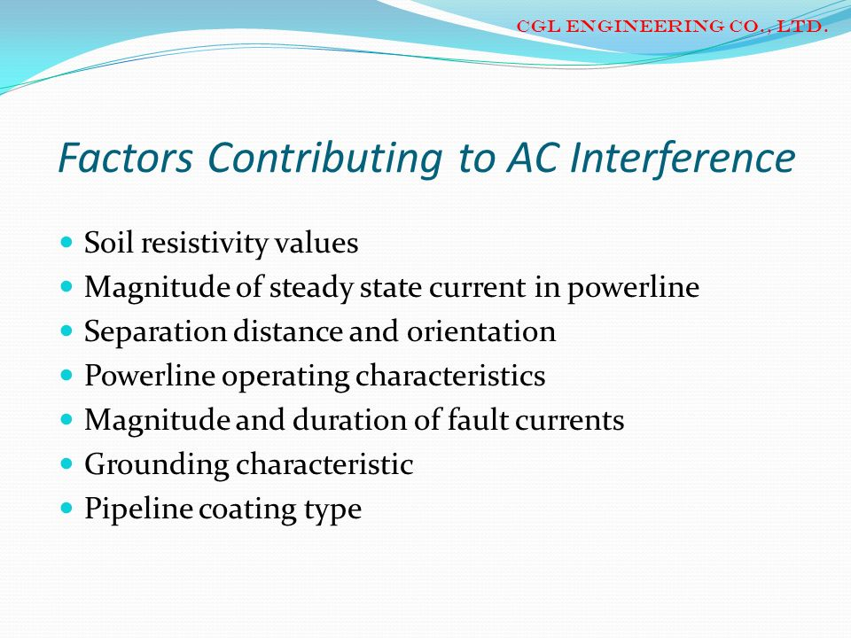 Factors Contributing to AC Interference