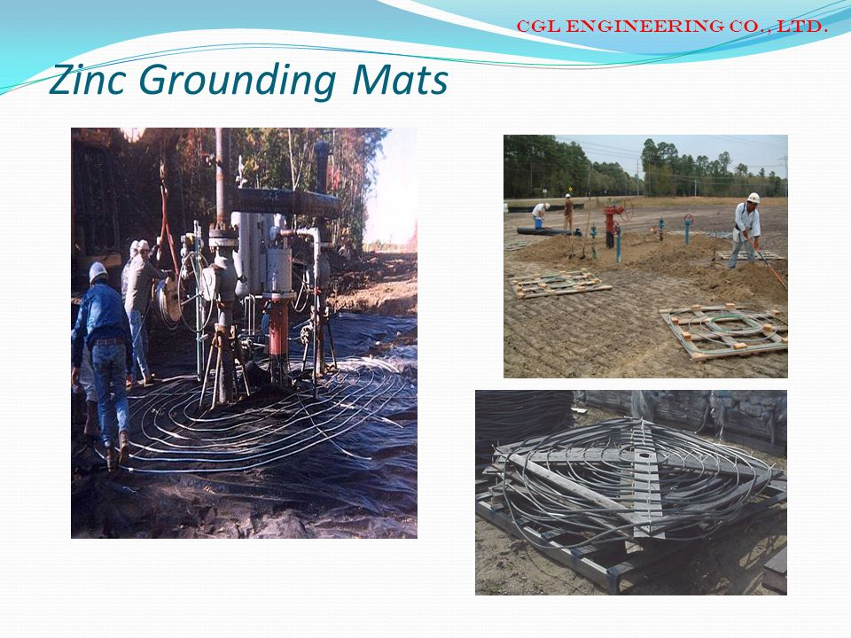 CGL ENGINEERING CO., LTD. Zinc Grounding Mats