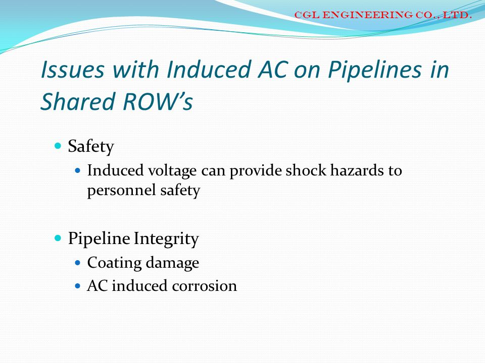 Issues with Induced AC on Pipelines in Shared ROW's