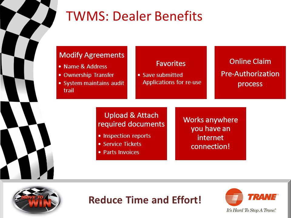 TWMS: Dealer Benefits Modify Agreements Online Claim Favorites