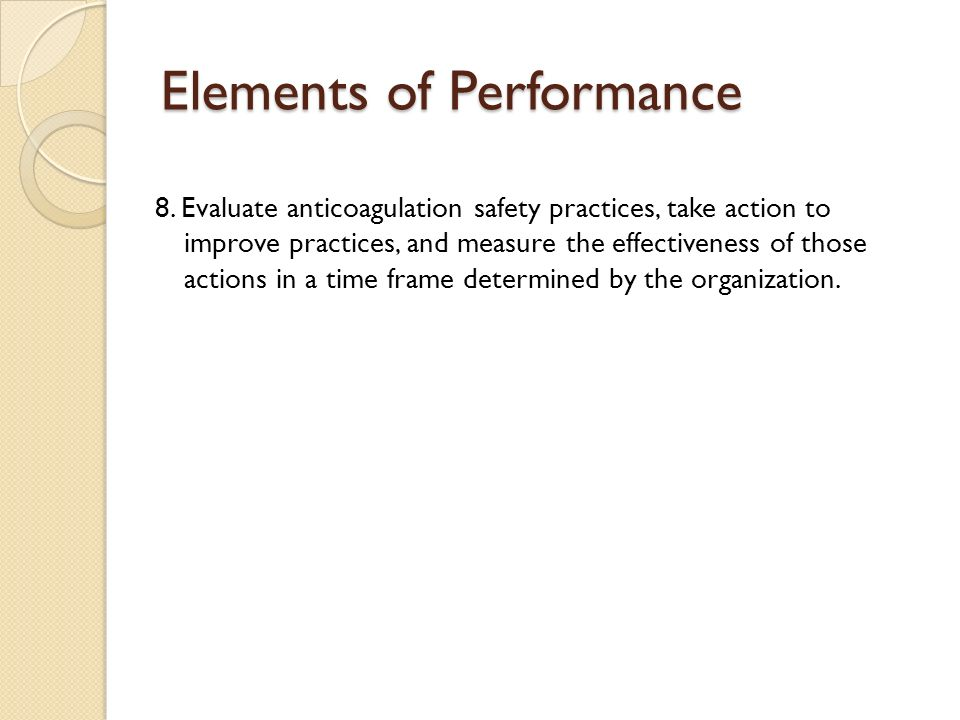 Elements of Performance