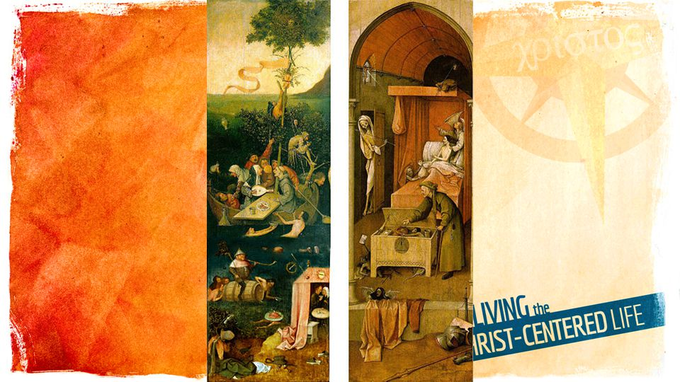 Fragment of a lost triptych which also included Ship of Fools (the Allegory of Gluttony and Lust) would be the lower part of that outer wing) and Death and the Miser (the other outer wing).