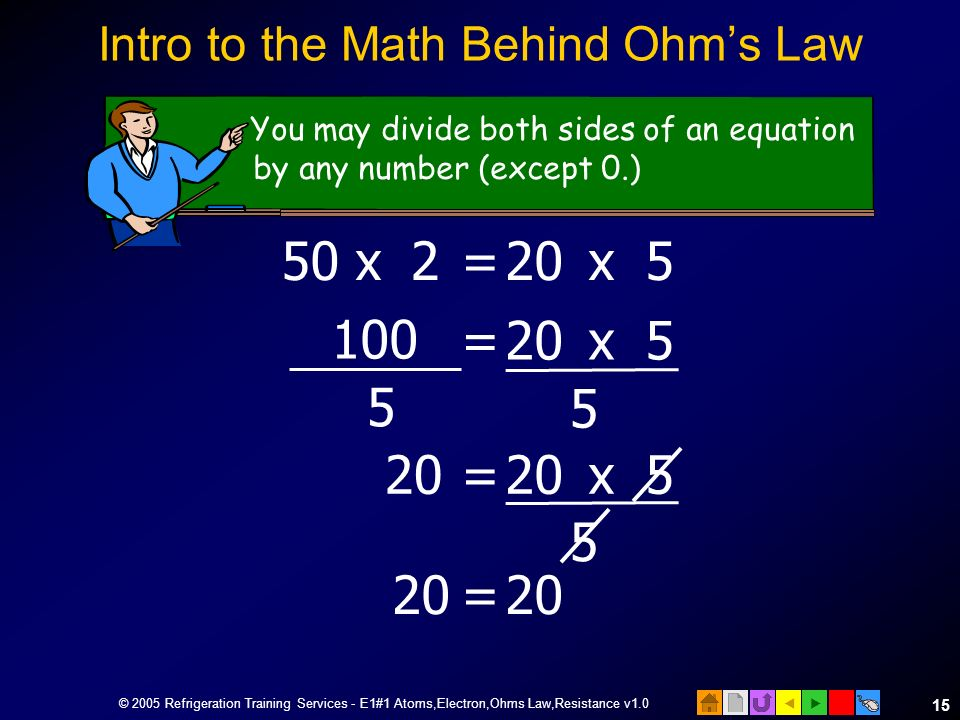 Intro to the Math Behind Ohm's Law