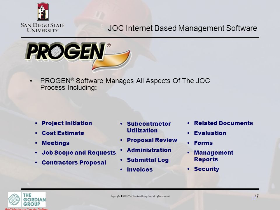 JOC Internet Based Management Software
