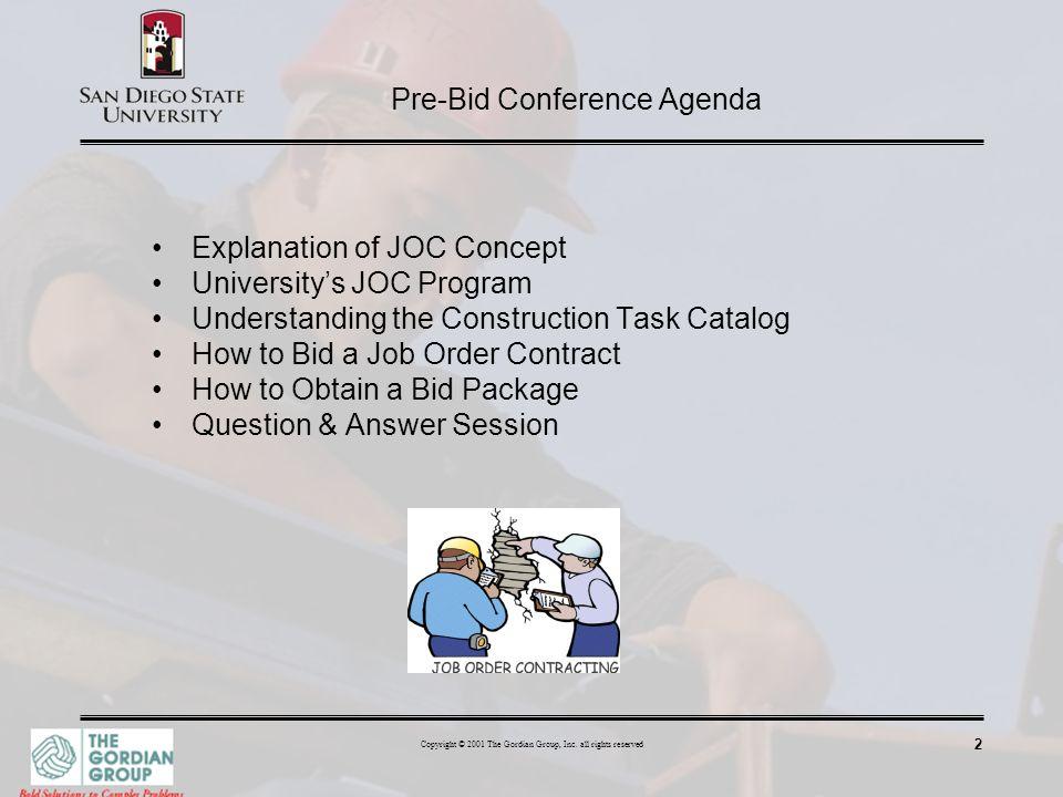 Pre-Bid Conference Agenda