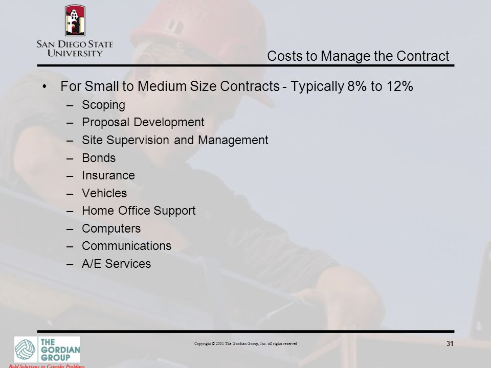 Costs to Manage the Contract