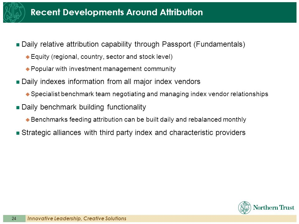 Recent Developments Around Attribution