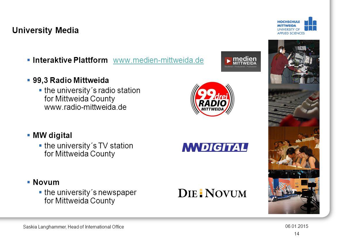 University Media Interaktive Plattform www.medien-mittweida.de