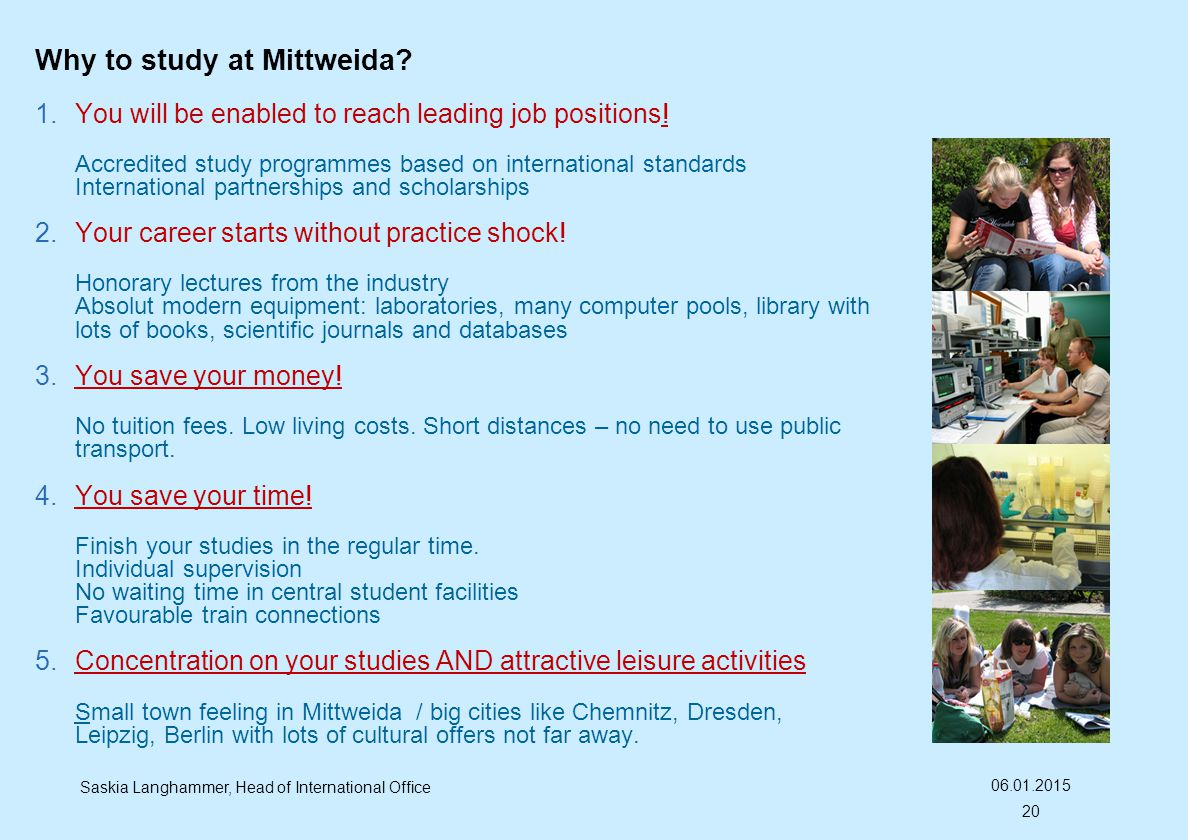 Why to study at Mittweida