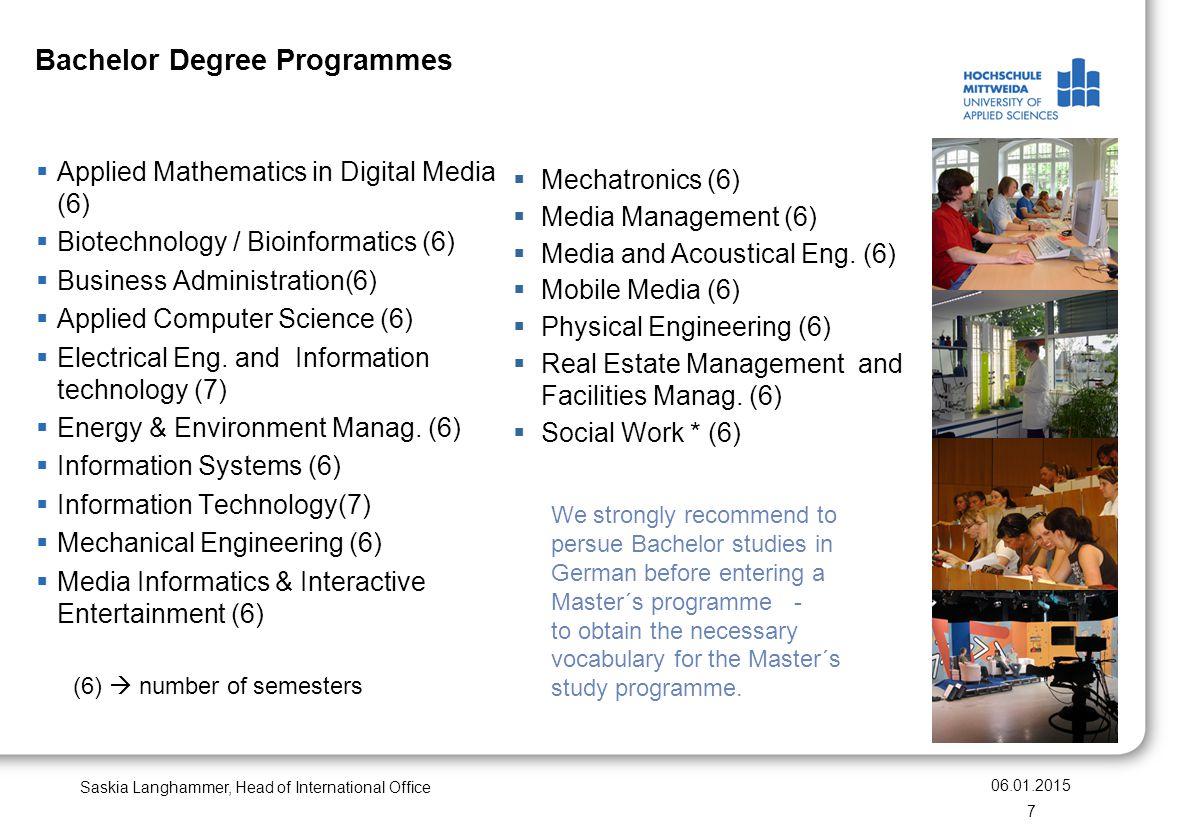 Bachelor Degree Programmes