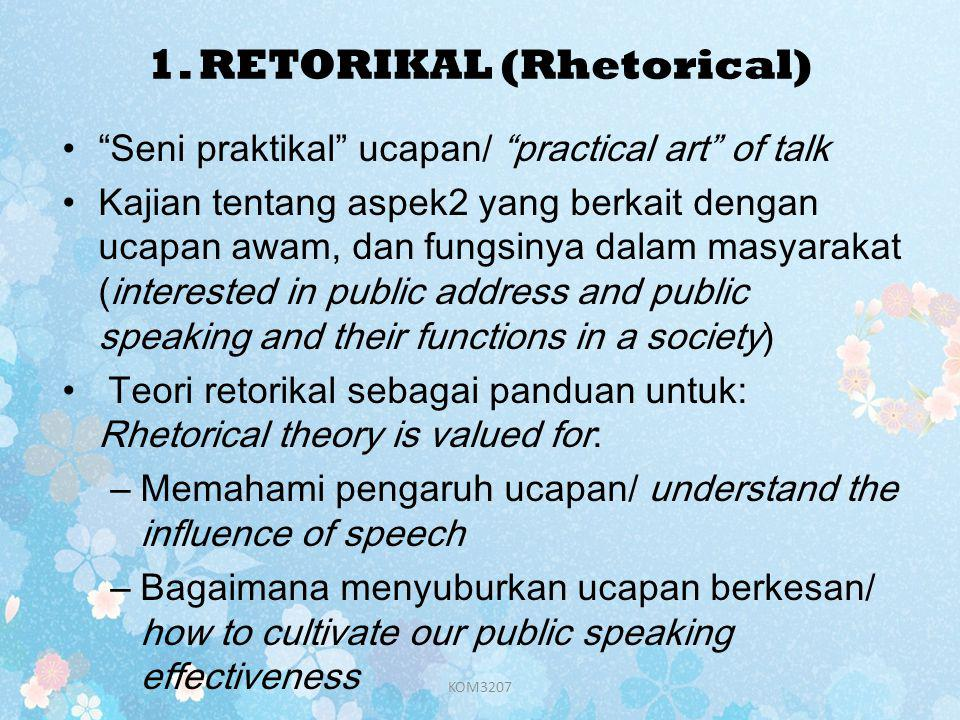1. RETORIKAL (Rhetorical)