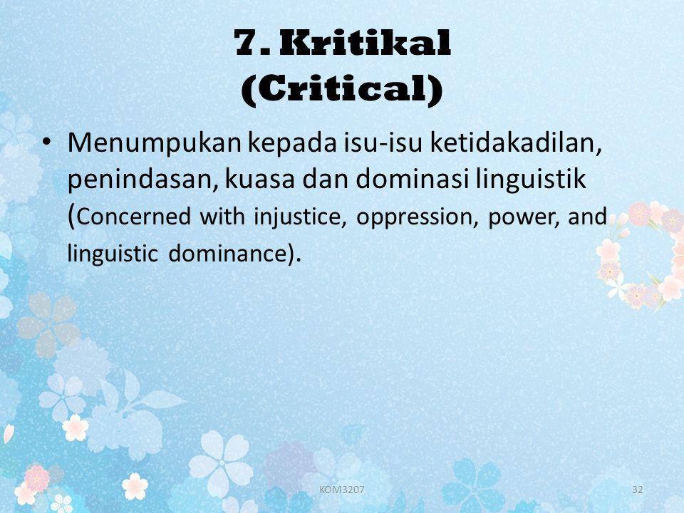 7. Kritikal (Critical)