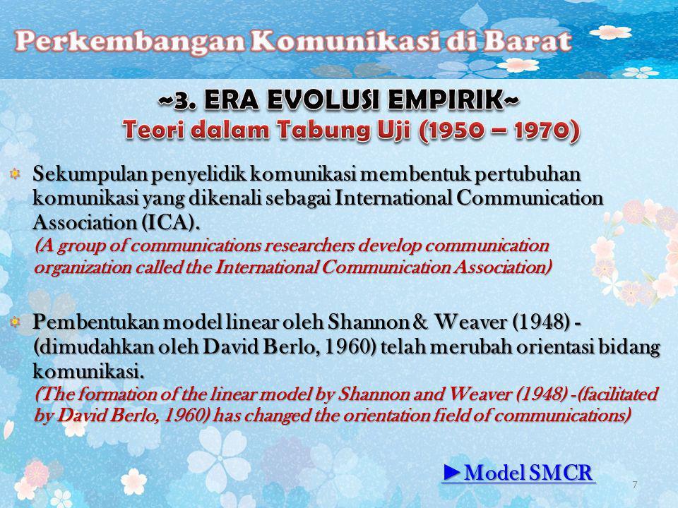 ~3. ERA EVOLUSI EMPIRIK~ Teori dalam Tabung Uji (1950 – 1970)