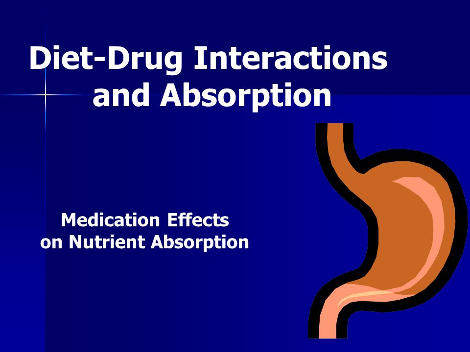 Diet-Drug Interactions on Nutrient Absorption