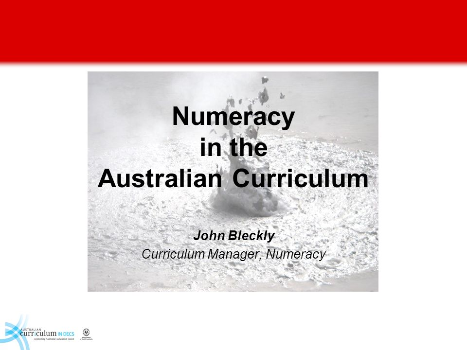 Numeracy in the Australian Curriculum