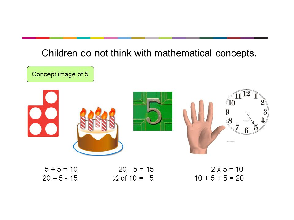 Children do not think with mathematical concepts.