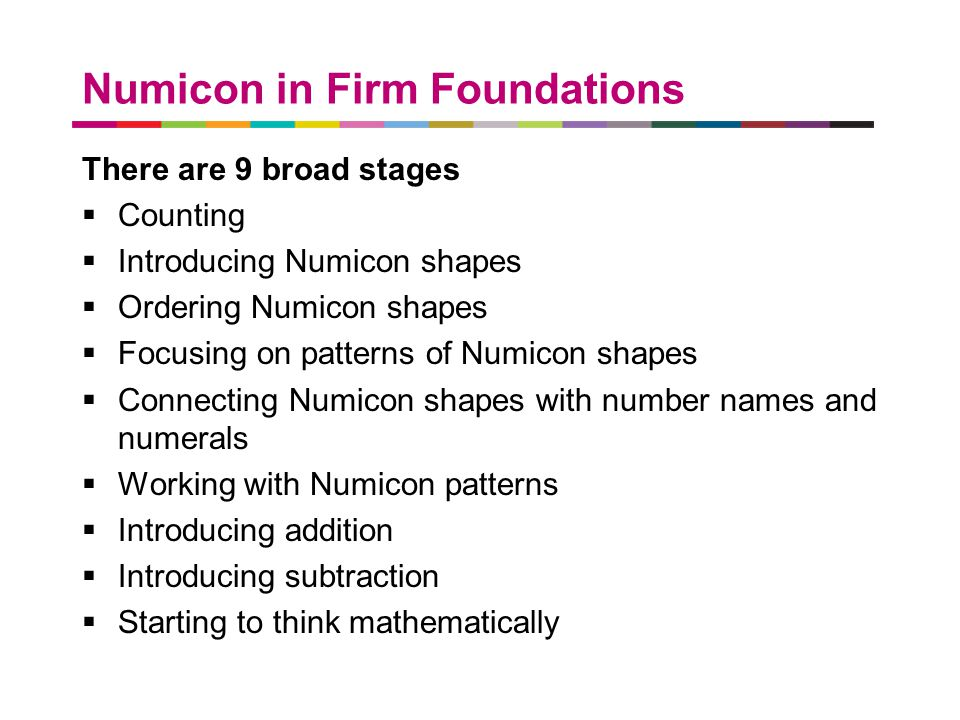 Numicon in Firm Foundations