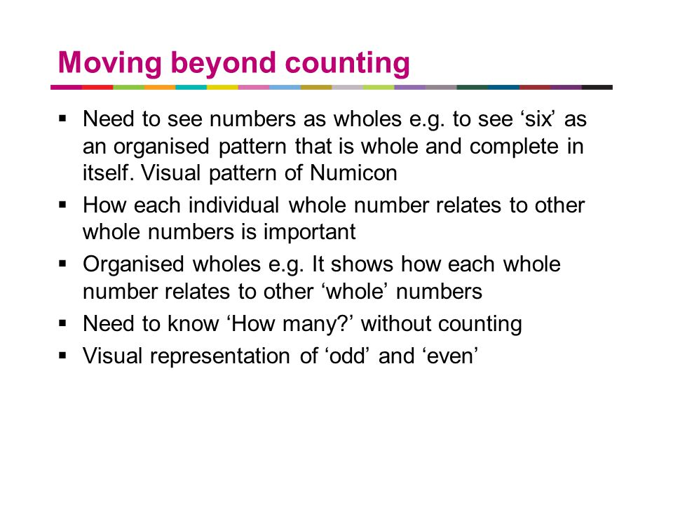 Moving beyond counting