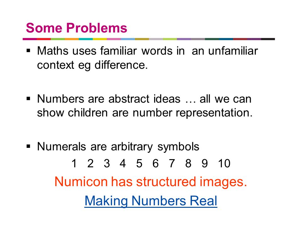 Numicon has structured images.