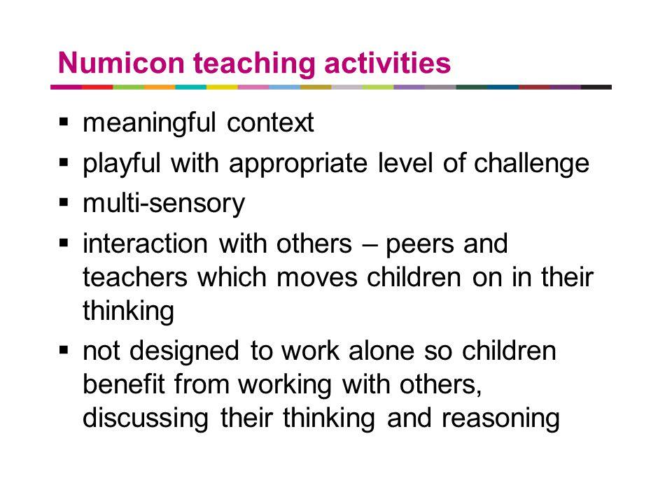 Numicon teaching activities