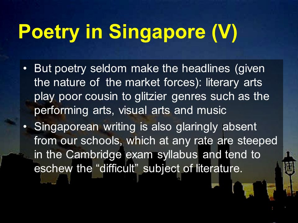 Poetry in Singapore (V)
