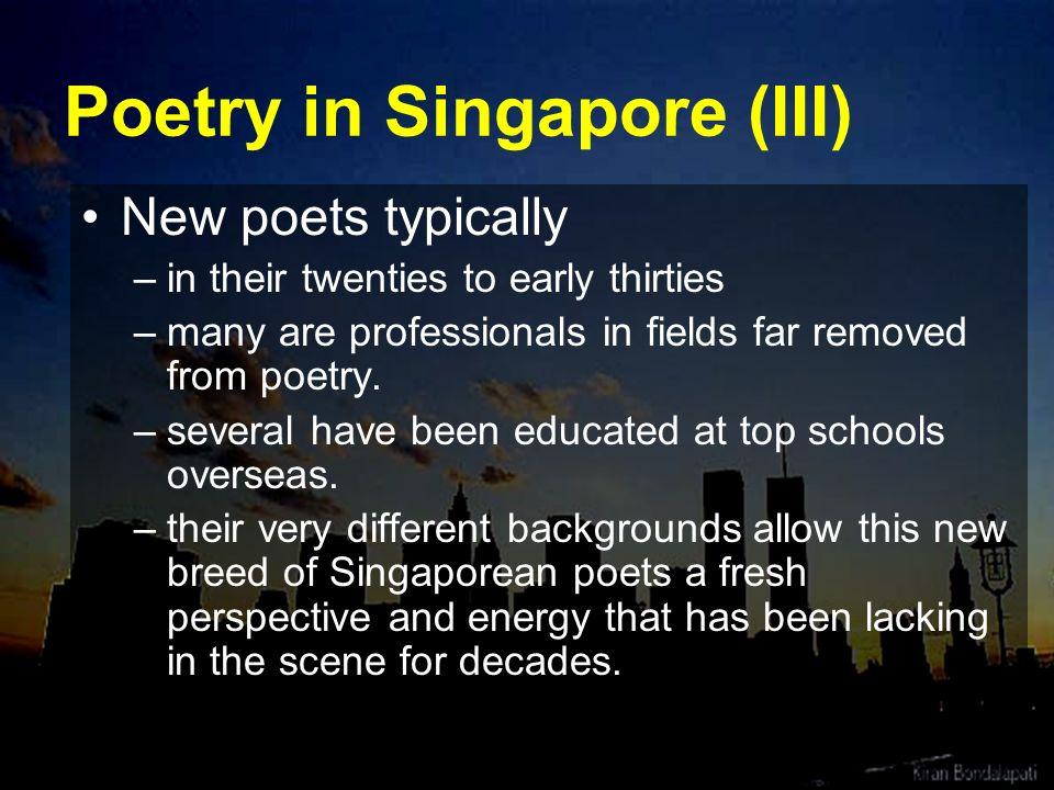 Poetry in Singapore (III)