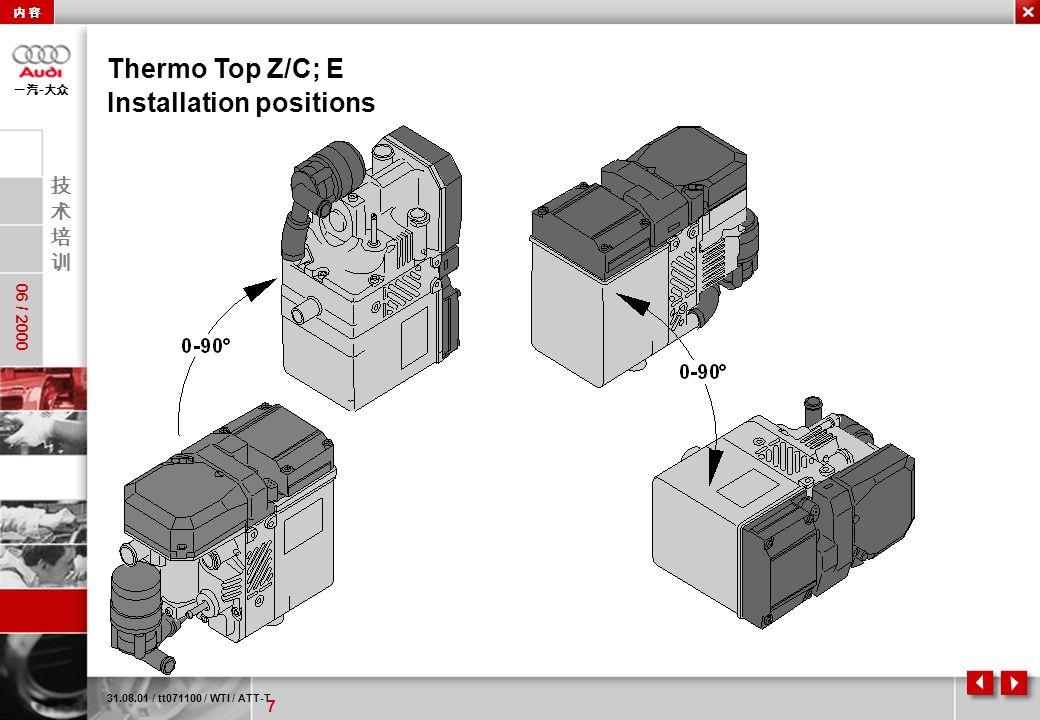 Installation positions
