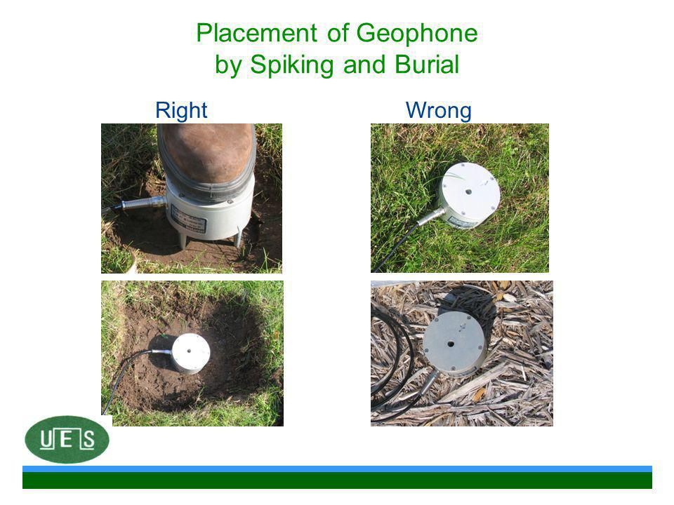 Placement of Geophone by Spiking and Burial