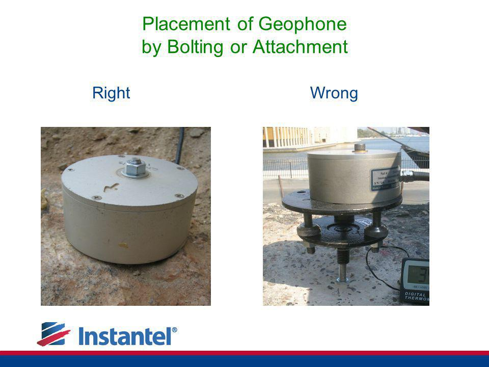 Placement of Geophone by Bolting or Attachment
