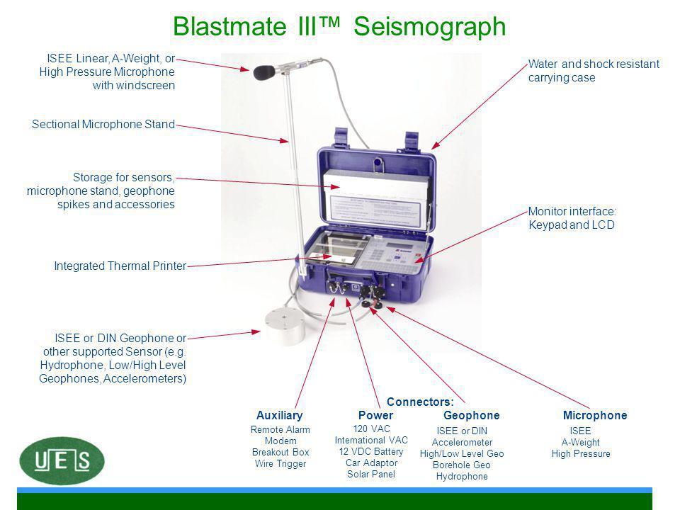Blastmate III™ Seismograph