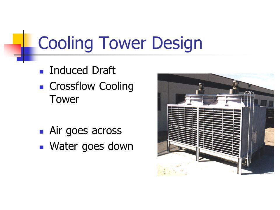 Cooling Tower Design Induced Draft Crossflow Cooling Tower