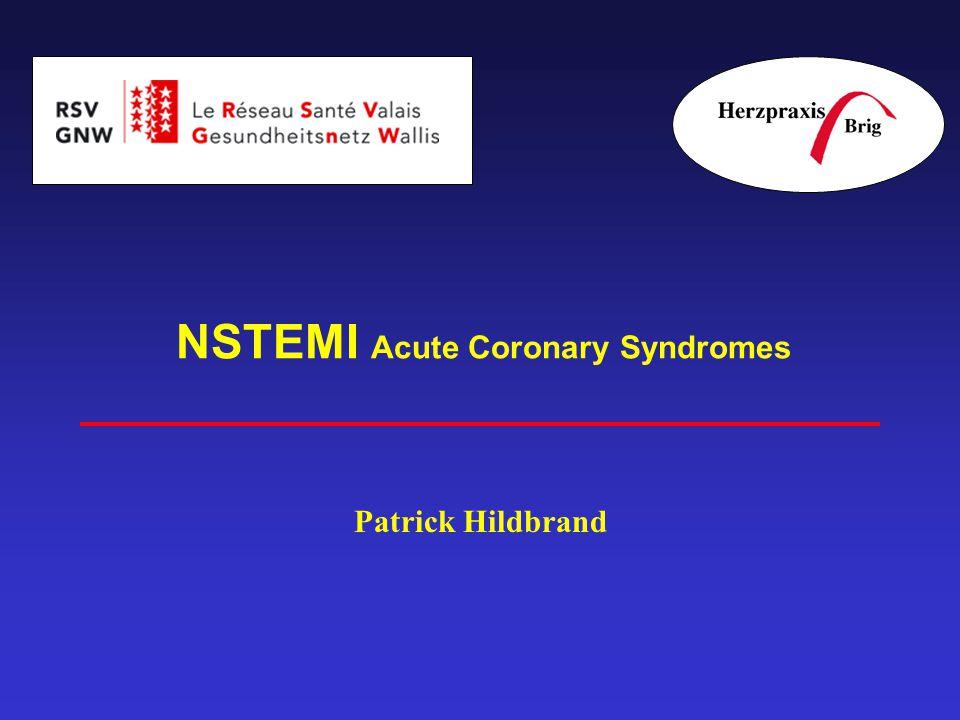 NSTEMI Acute Coronary Syndromes