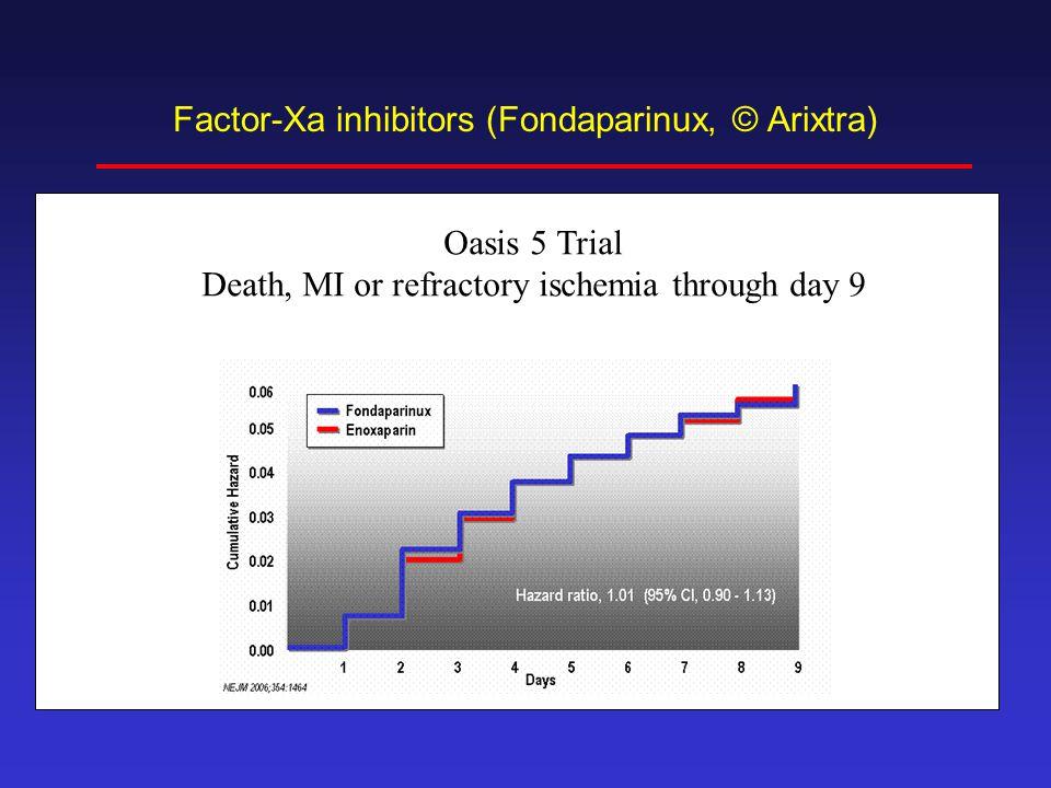 Factor-Xa inhibitors (Fondaparinux, © Arixtra)